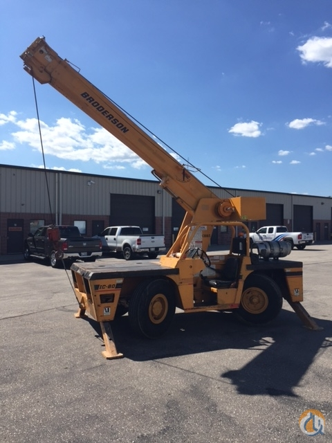 1998 Broderson IC 80-3E Crane for Sale or Rent in Cambridge Ontario on CraneNetworkcom