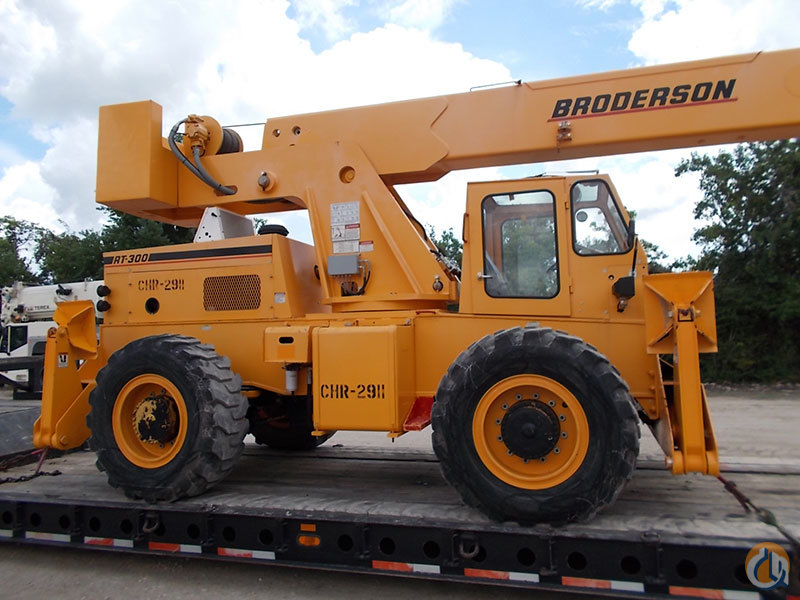Sold 2008 Broderson RT300-2D Crane for on CraneNetwork.com