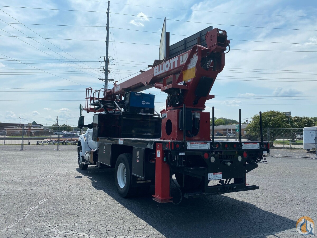 Sold 2015 Elliott L60R Mounted on a Ford F750 Crane for  in Monroe North Carolina on CraneNetwork.com