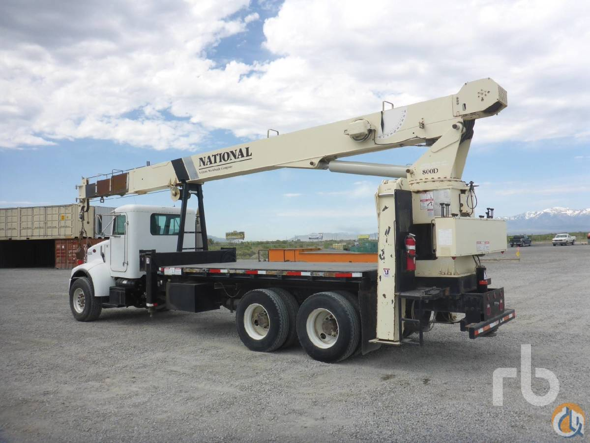 2004 PETERBILT PB330 TA wNational 800D 23 Ton Boom Truck Crane for Sale in Salt Lake City Utah on CraneNetworkcom