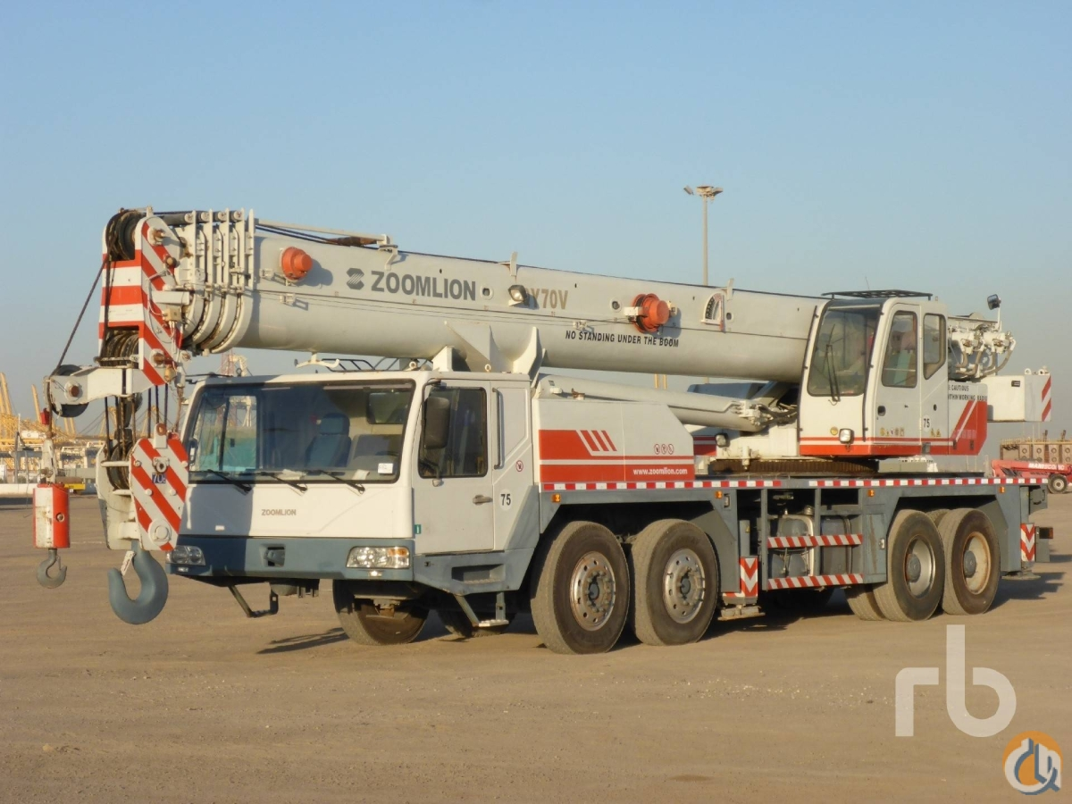 Sold 2011 ZOOMLION QY70V 70 Ton 8x4x4 Hydraulic Truck Crane Crane for  in Dubai Dubai on CraneNetworkcom