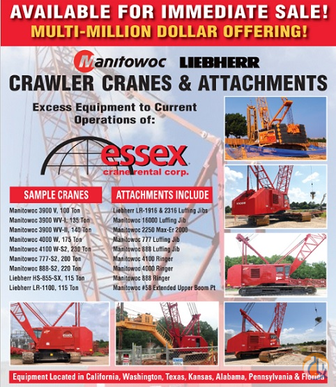 Sold 1971 MANITOWOC 3900W SERIES 2 Crane For In Alabaster