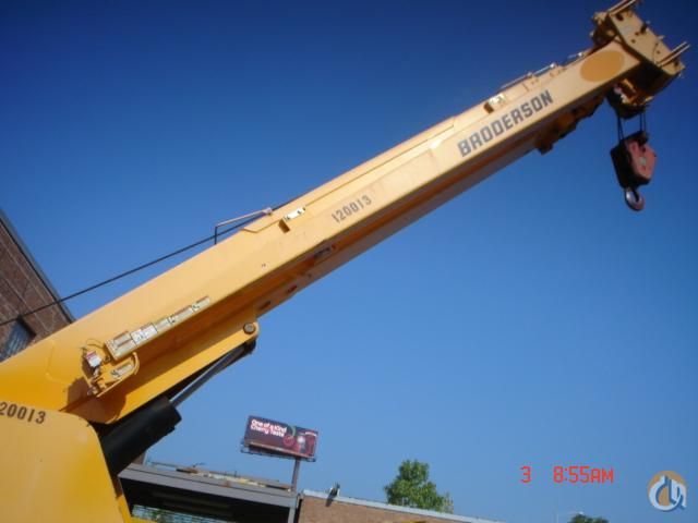 2012 BRODERSON IC200-3G Crane for Sale or Rent in Bridgeview Illinois on CraneNetworkcom