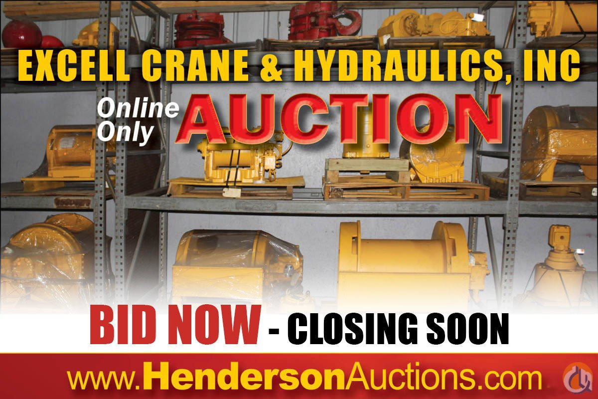 sold henderson auction excell crane hydraulics inc crane for in