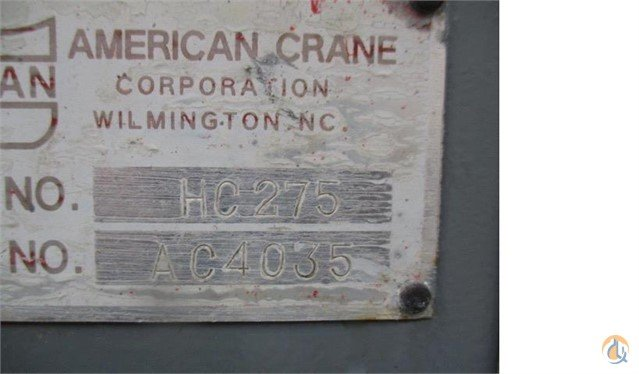 2004 AMERICAN HC275 Crane for Sale in Lyon Charter Township Michigan on CraneNetworkcom