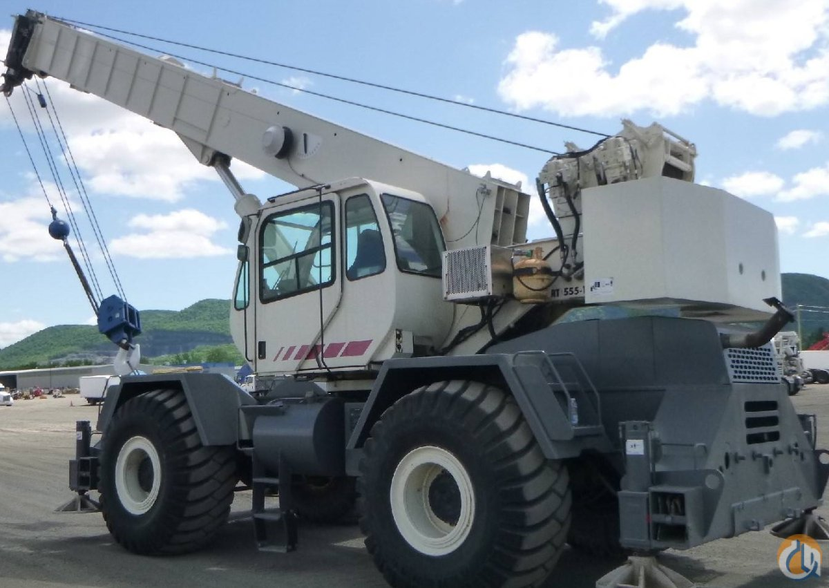 2008 Terex RT555 55 ton rough terrain crane Crane for Sale in Montreal Quebec on CraneNetwork.com