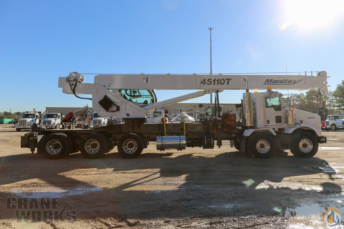 2013 Manitex 45110T mounted to 2019 Kenworth T800 chassis Crane for Sale in Houston Texas on CraneNetwork.com