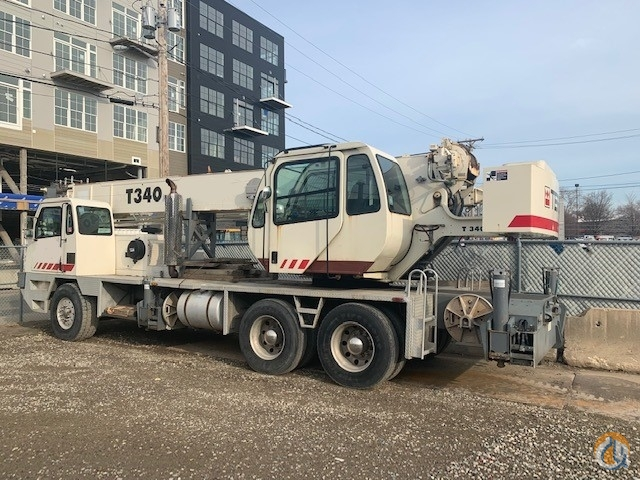 2001 Terex T-340 Truck Crane Crane for Sale in Boston Massachusetts on CraneNetwork.com