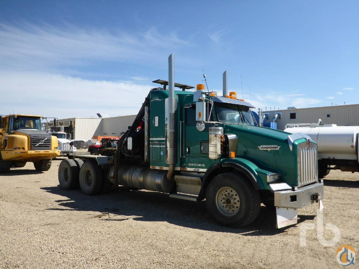 Sold 2007 KENWORTH T800B TA wHiab 220C Sleeper Boom Truck Crane for  in Grande Prairie Alberta on CraneNetwork.com