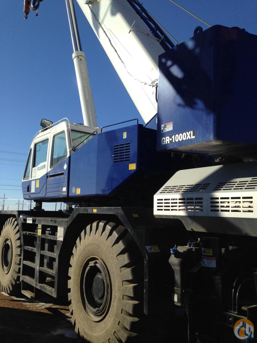 2015 TADANO GR-1000XL Crane for Sale or Rent in Edmonton Alberta on CraneNetwork.com