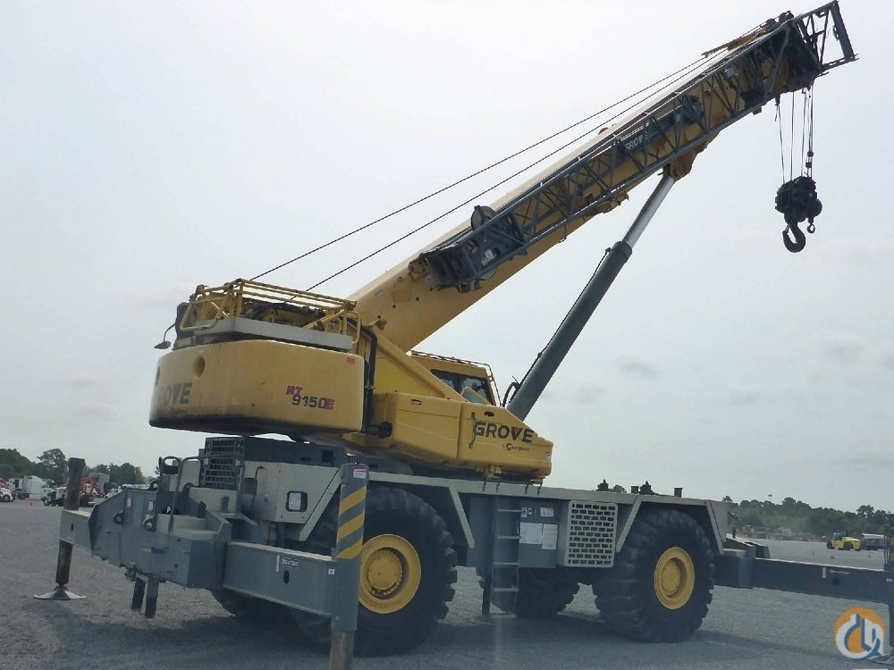 2011 Grove RT9150E 150 ton rough terrain Crane for Sale in Houston Texas on CraneNetwork.com