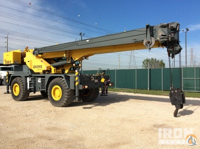Sold 2013 Grove RT530E-2 Rough Terrain Crane Crane for  in La Porte Texas on CraneNetwork.com