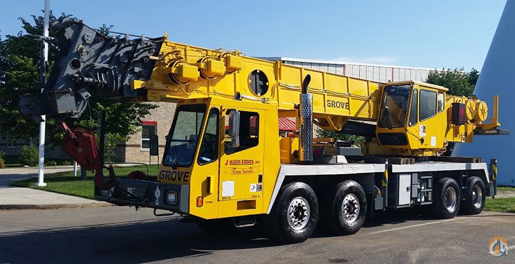 1997 Grove TMS870B Long Boom Crane for Sale in Linden New Jersey on CraneNetwork.com