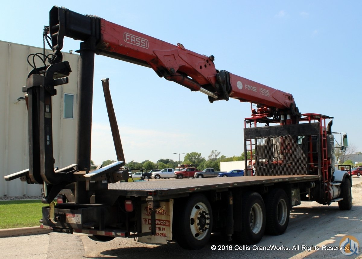 Used Fassi F390SE.24 wallboard crane mounted to 2005 Kenworth T800 chassis Crane for Sale in Olathe Kansas on CraneNetwork.com