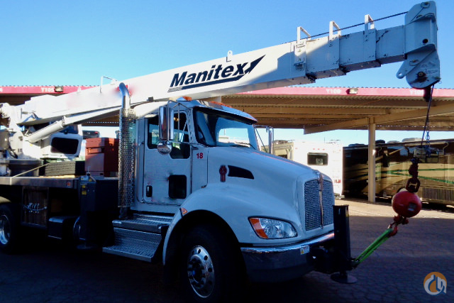 Used 2018 Manitex 22101S boom truck on Kenworth T370 chassis Crane for Sale in Phoenix Arizona on CraneNetwork.com