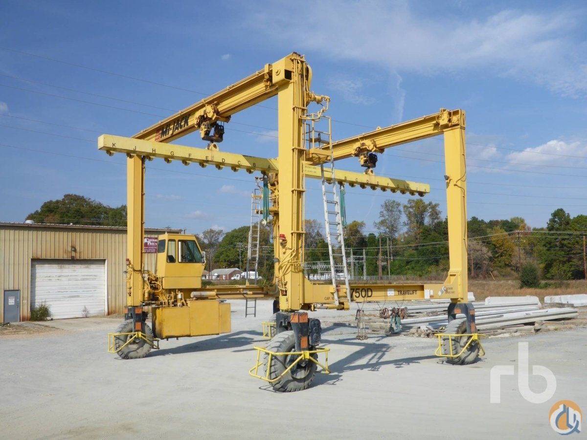 Sold 2005 MI-JACK TRAVELIFT 750D 50 Ton Gantry Crane Crane for  in Durham North Carolina on CraneNetworkcom