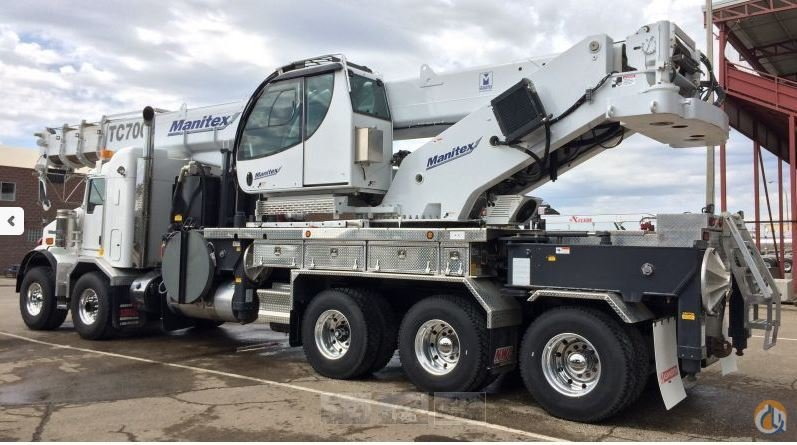 2015 Manitex TC700 Mounted on a Kenworth T800.38 Crane for Sale in Leduc Alberta on CraneNetwork.com