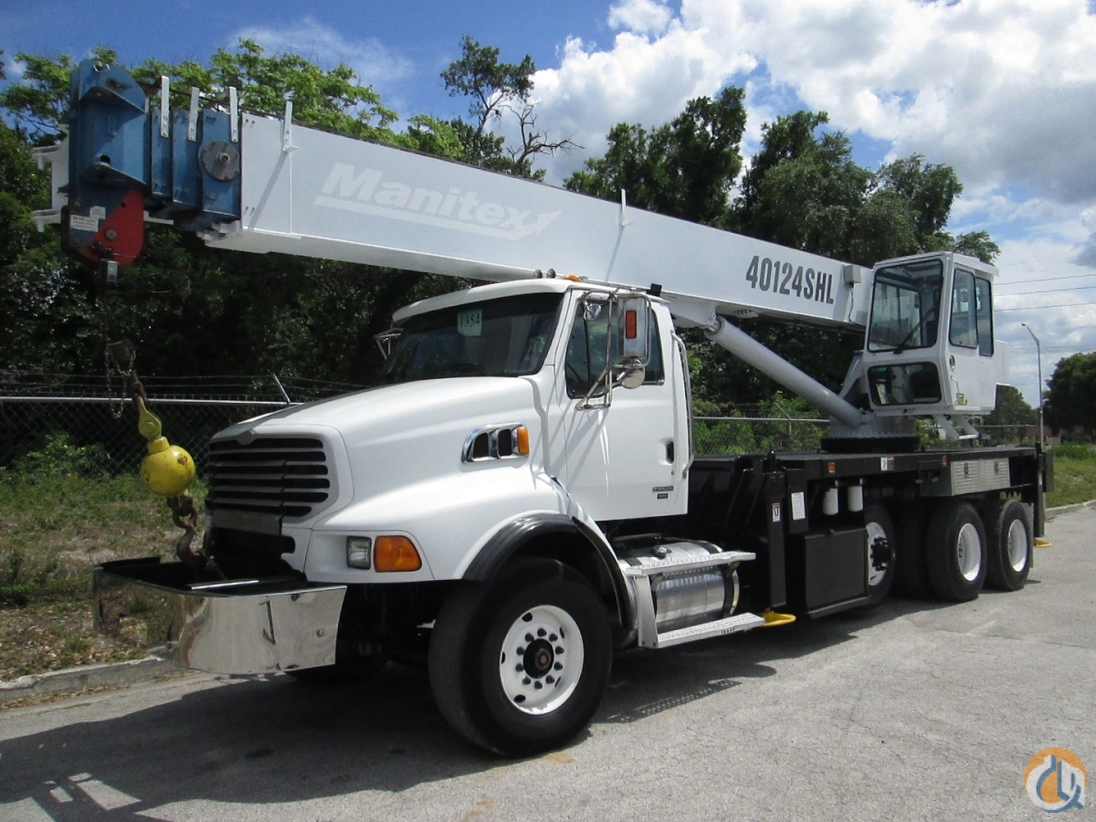 2008 Manitex 40124SHL on a Sterling LT-9513 Crane for Sale in Tampa Florida on CraneNetwork.com