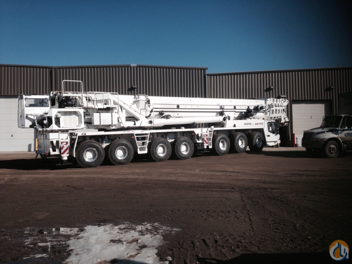2014 GMK7550 WITH MEGA WING LIFT SYSTEM    8 AXLES  Crane for Sale on CraneNetworkcom