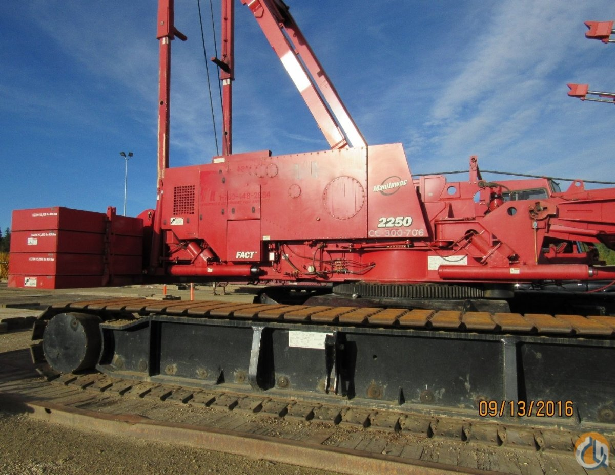 Jib Cranes Edmonton : Sold manitowoc series with luffer fixed jib