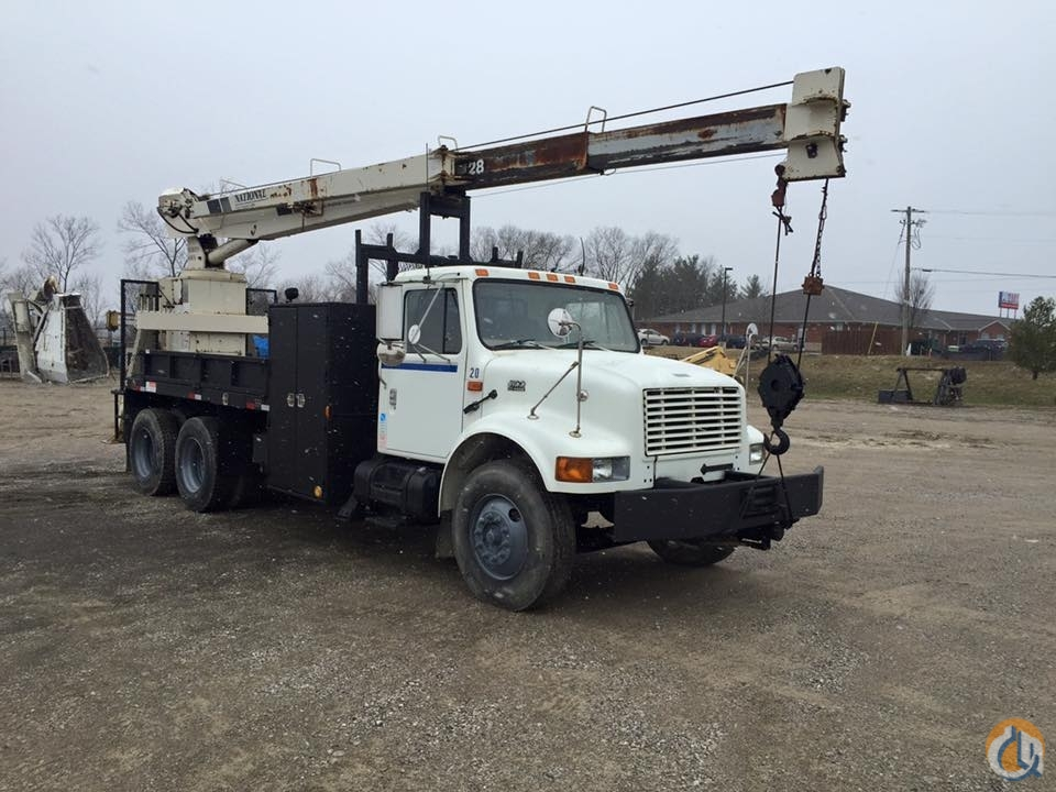 1999 International 4900 Boom Truck Crane for Sale in Walton Kentucky on CraneNetwork.com