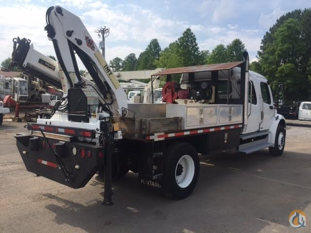 2007 Freightliner M2 Crew Cab with IMT Knuckle Boom Flatbed Allison Automatic Crane for Sale in Jasper Georgia on CraneNetworkcom