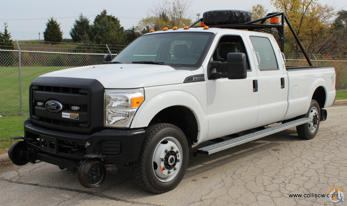 2014 Ford F-350 crew cab 4x4 track inspector pickup with Harsco Hy-Rail package Rail FORD F-350 CraneWorks Inc. 23694 on CraneNetwork.com