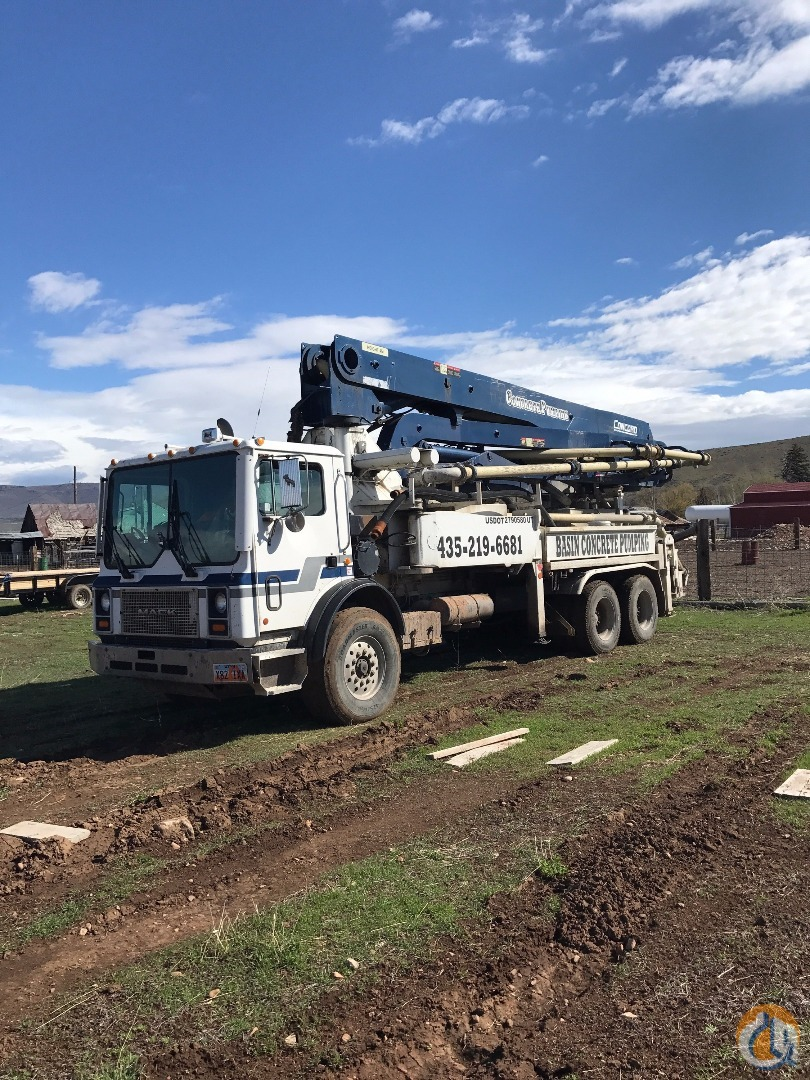2001 Mac Truck with a 36 meter concord pump. Concrete Trucks MAC COP-36S-150 CampS Concrete 22144 on CraneNetwork.com