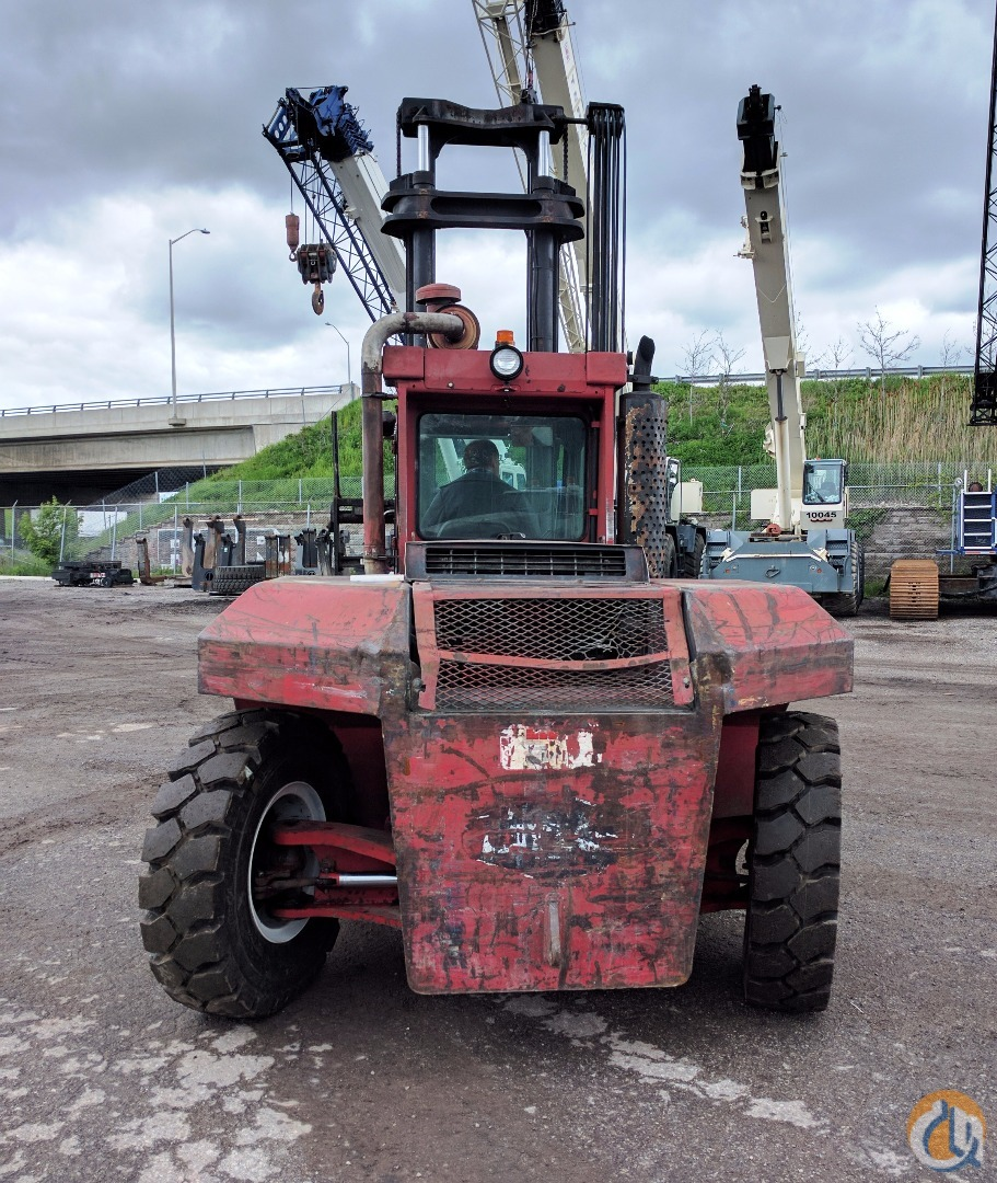 1986 Taylor TE-300M Diesel powered pneumatic tire yard truck Mast TAYLOR TE300 Cropac Equipment Inc. 22104 on CraneNetwork.com