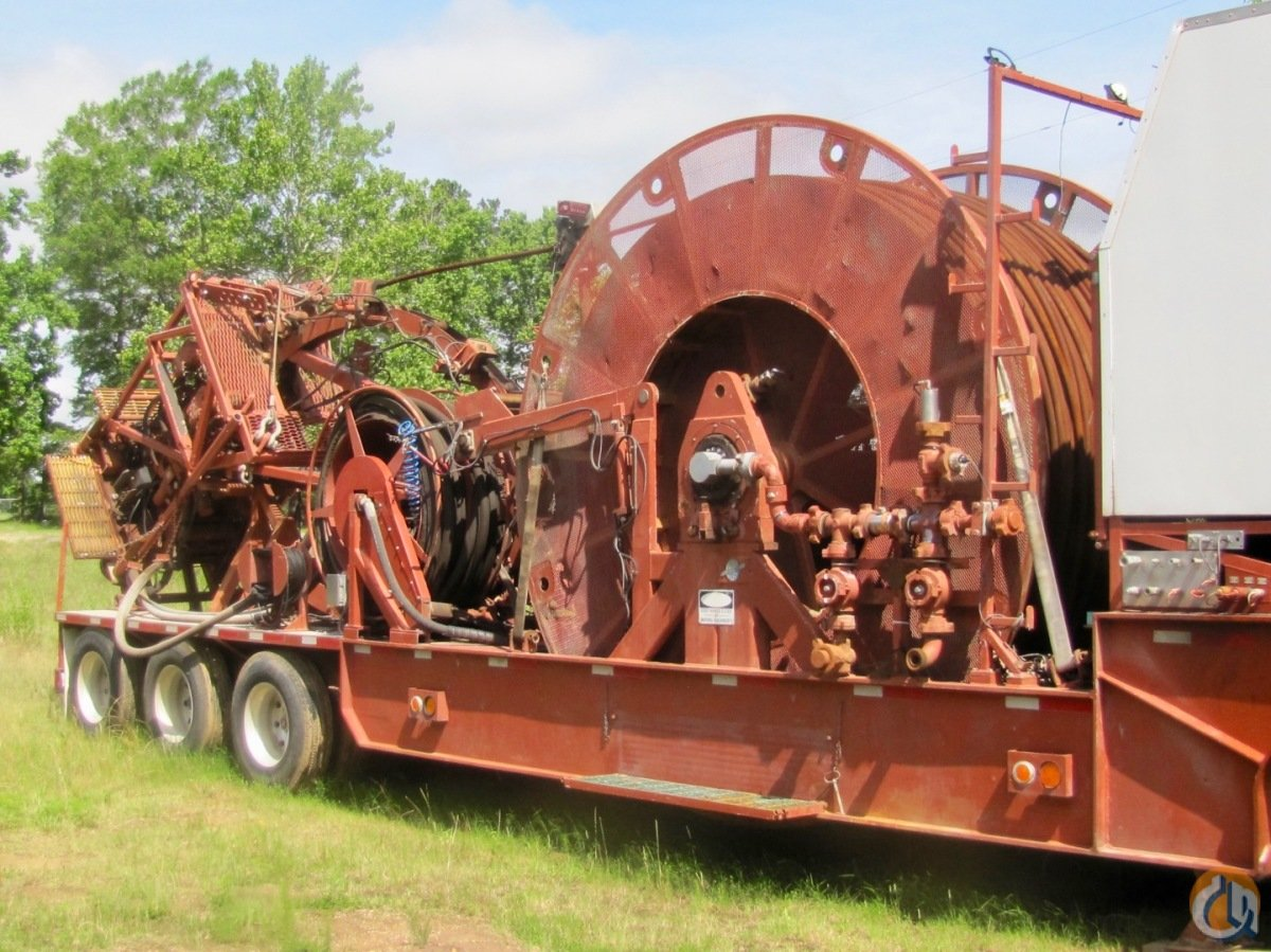 Used 2007 Stewart  Stevenson 2-inch coiled tubing reel trailer Oilfield Trailers STEWART  STEVENSON 2 coiled tubing reel trailer CraneWorks Inc. 23698 on CraneNetwork.com
