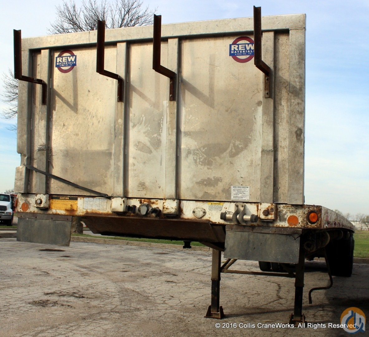 Used 1999 Lufkin 42 flatbed trailer with removable aluminum headboard  forklift carrier Trailers LUFKIN 42 CraneWorks Inc. 23877 on CraneNetwork.com