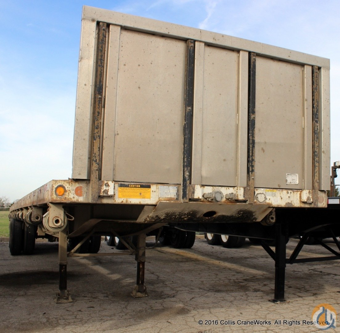 Used 1999 Lufkin 42 flatbed trailer with removable aluminum headboard  forklift carrier Trailers LUFKIN 42 CraneWorks Inc. 23878 on CraneNetwork.com