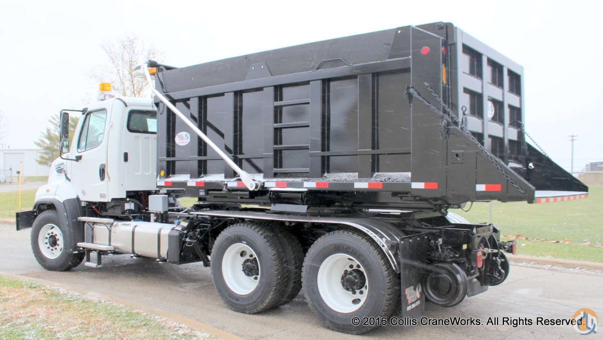 New 2017 Freightliner 108SD 12-14 yard roto-dump truck with DMF hi-rail package Railway Trucks  Flatbeds FREIGHTLINER 108SD CraneWorks Inc. 23815 on CraneNetwork.com