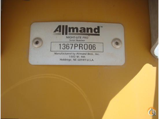 2006 ALLMAND BROS NIGHT LIGHT PRO Light Towers ALLMAND BROS NIGHT-LITE PRO  Equify Financial LLC 76 on CraneNetwork.com