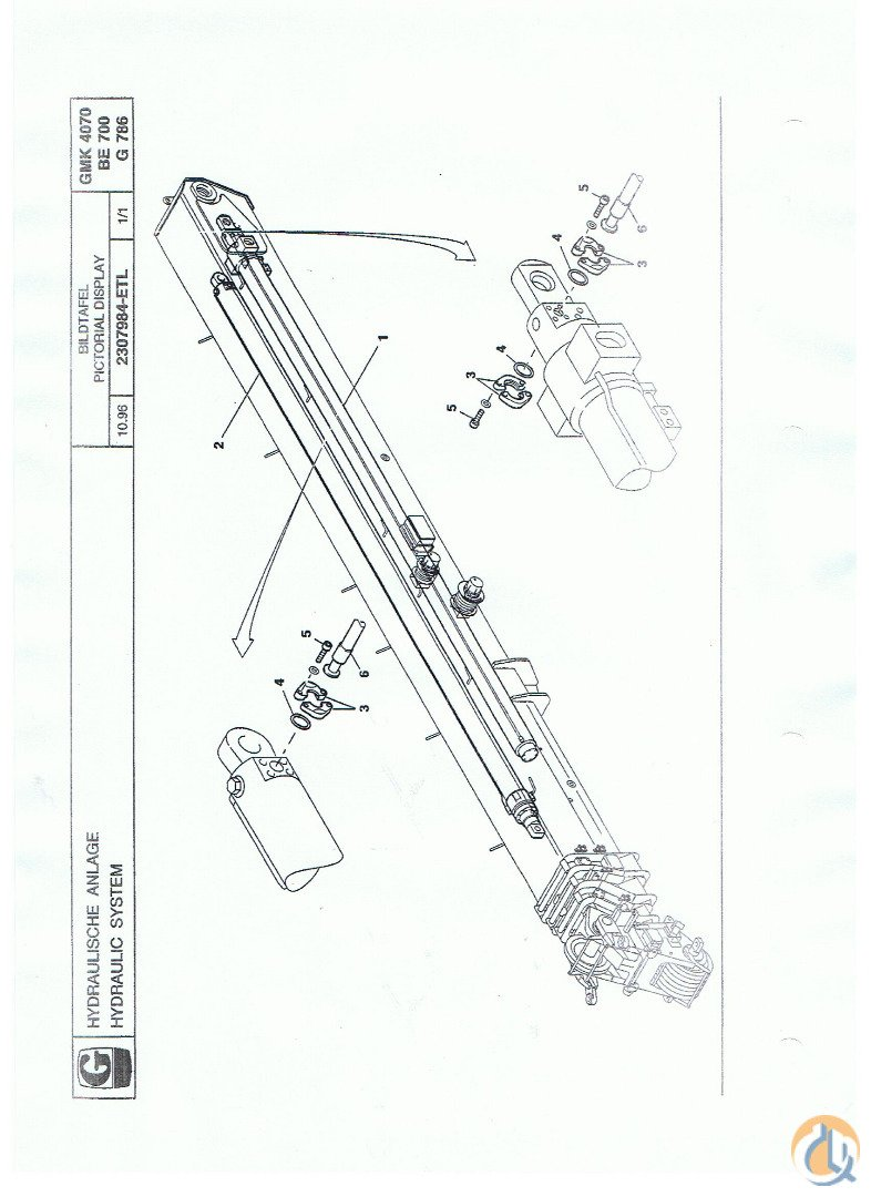 Grove GROVE TELESCOPIC CYLINDER I GMK 4070 Cylinder Boom Lift Crane Part For Sale On CraneNetwork