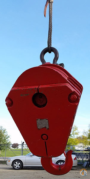 Gunnebo Johnson Johnson 15 ton load block Hook Block Crane Part for Sale in Rockford Illinois on CraneNetwork.com