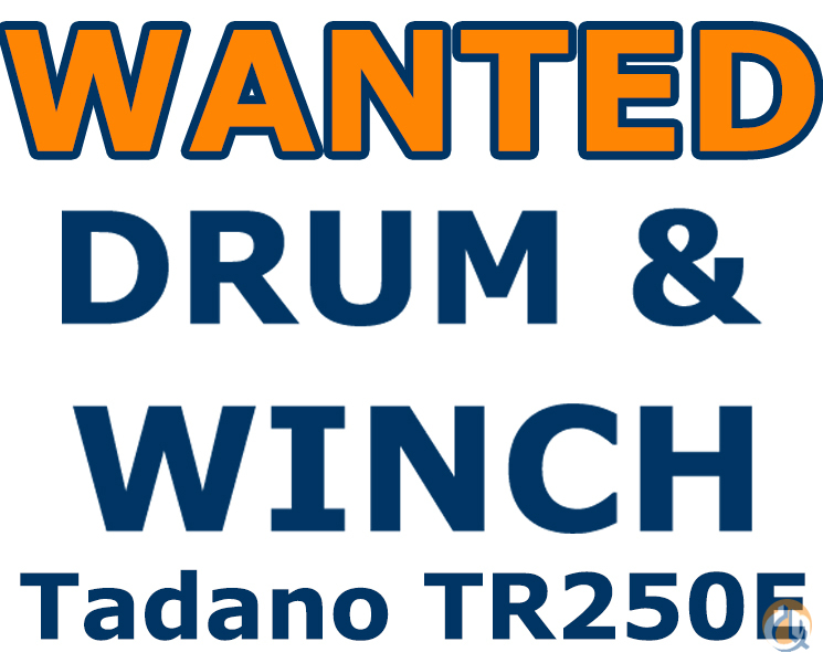 Tadano WANTED Tadano TR-250E Want to Buy Crane Part for Sale in Valenzuela Metro Manila on CraneNetworkcom