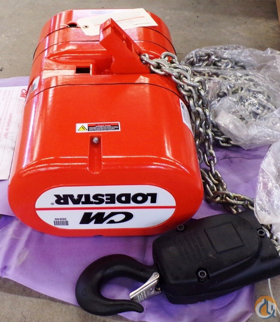 Lodestar CM LODESTAR ELECTRIC CHAIN HOIST MODEL RR 2 TON 15FT HoistsWinches Crane Part for Sale in Coffeyville Kansas on CraneNetwork.com