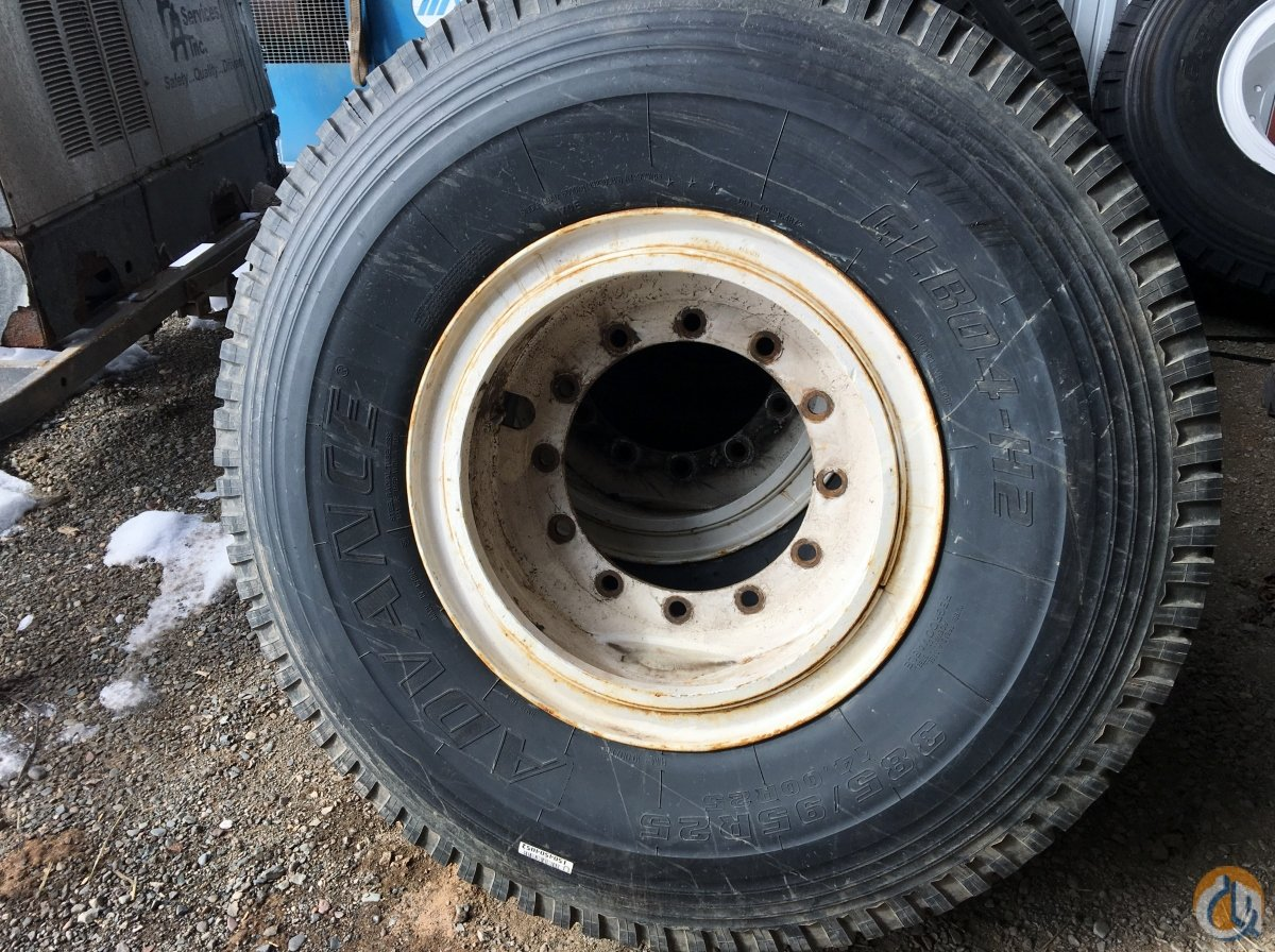 Advance Advance GLB04-H2 Set of 10 Tires with Rims 38595 R25 Tires Crane Part for Sale in Iron River Michigan on CraneNetwork.com