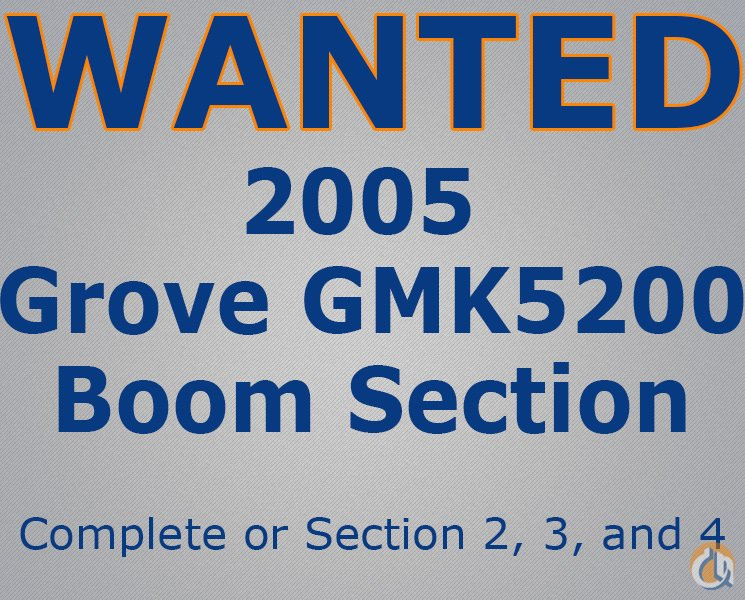 Grove Wanted Grove boom section Want to Buy Crane Part for Sale in Abu Dhabi Abu Dhabi on CraneNetworkcom