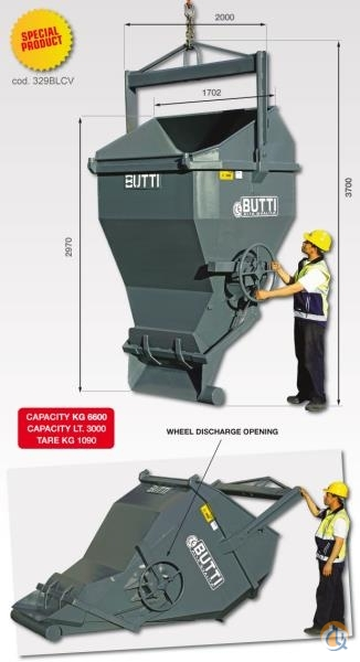 Other Butti Concrete Laydown Bucket Buckets Drag Clam Concrete Crane Part for Sale in Tukwila Washington on CraneNetwork.com
