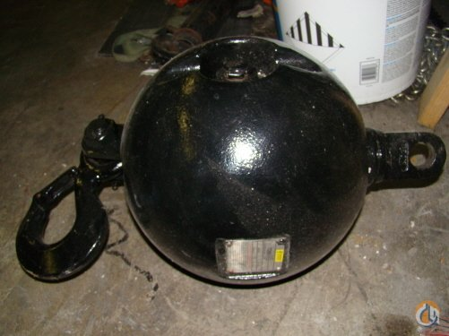 Johnson 250 lb JOHNSON BALL Overhaul Hook Balls Crane Part for Sale on CraneNetworkcom