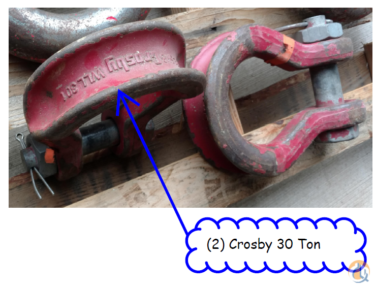 Crosby 2 Crosby 30 ton wide mouth shackles for nylon or synthetic type rigging 550.00 OBO. Shackle Crane Part for Sale in Salem Oregon on CraneNetwork.com