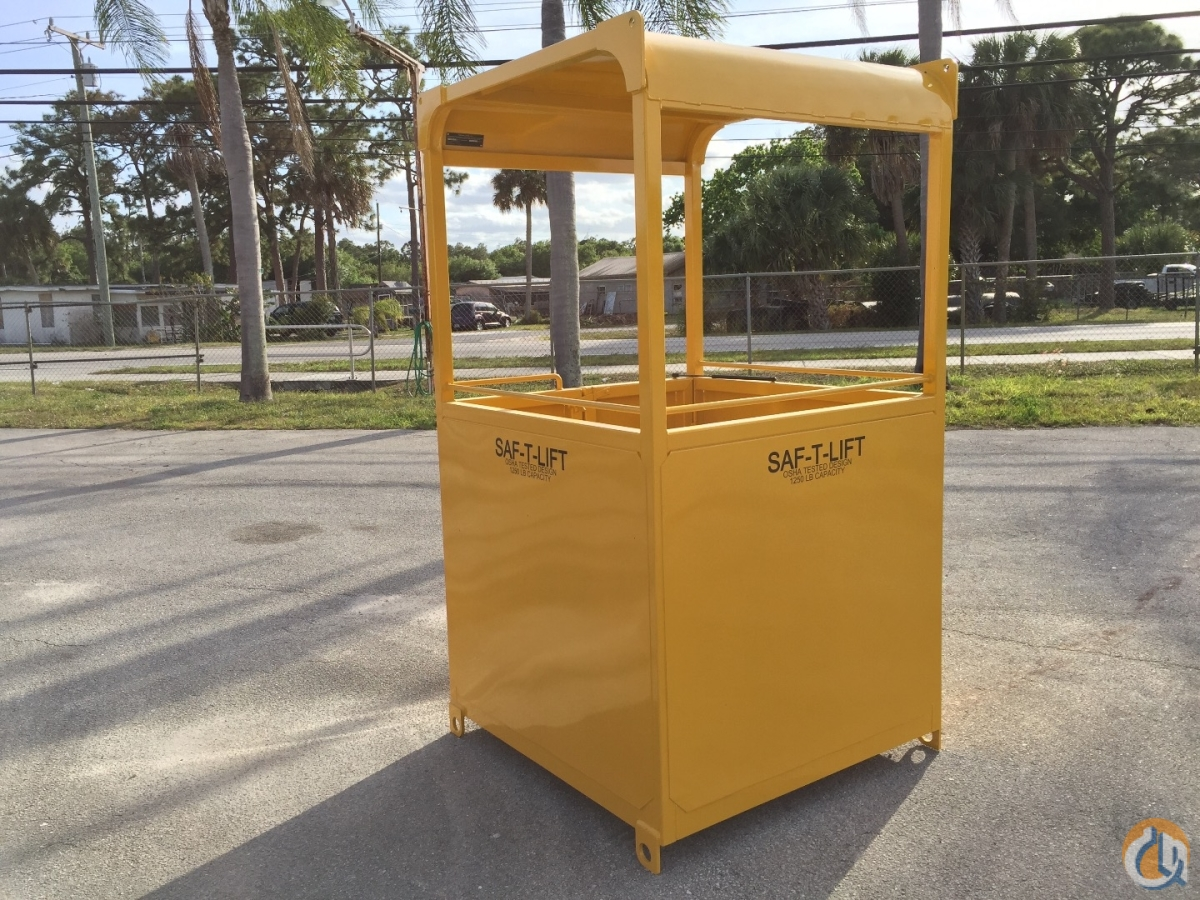 Supercage Manbasket newunused OSHA design Safe-T-Lift brand with test weight Man Baskets Crane Part for Sale in Fort Pierce Florida on CraneNetwork.com