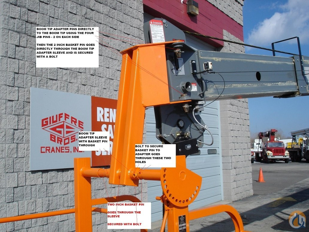 Fits Most Cranes Boom tip Adapters for Two-man basket Man Baskets Crane Part for Sale in Milwaukee Wisconsin on CraneNetworkcom