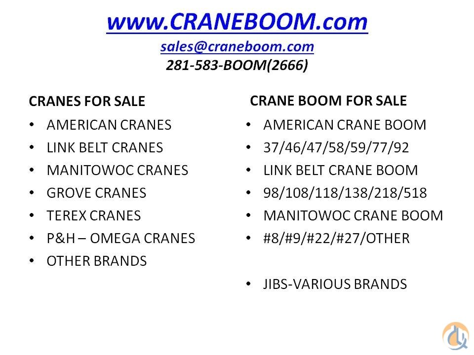 American AMERICAN CRANE BOOM- VARIOUS LENGTHS Boom Sections Crane Part for Sale in Houston Texas on CraneNetwork.com
