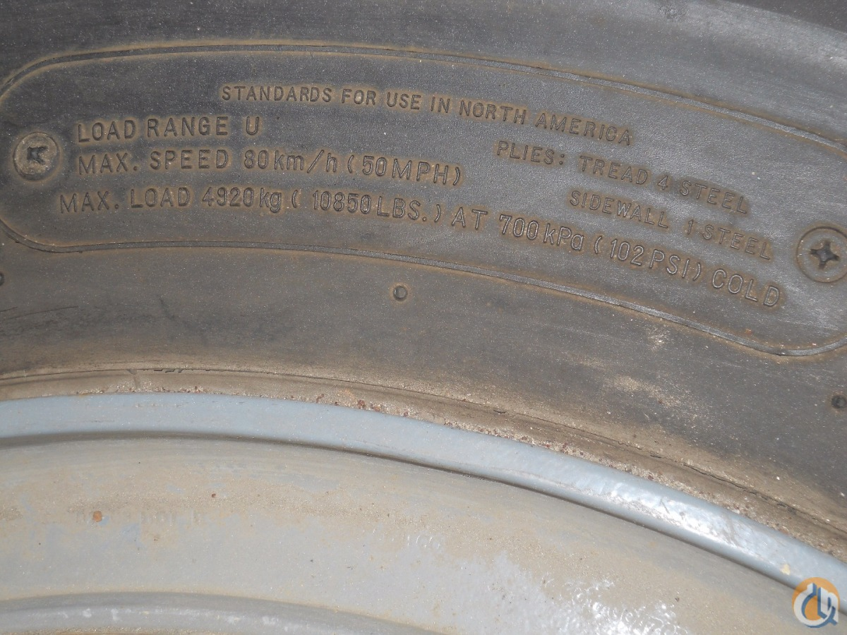 Unknown 17.5R25 Tires  Rims Tires Crane Part for Sale in Syracuse New York on CraneNetwork.com