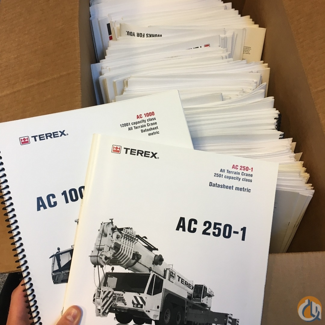 Terex Terex Literature Manuals Crane Part for Sale in Syracuse New York on CraneNetwork.com
