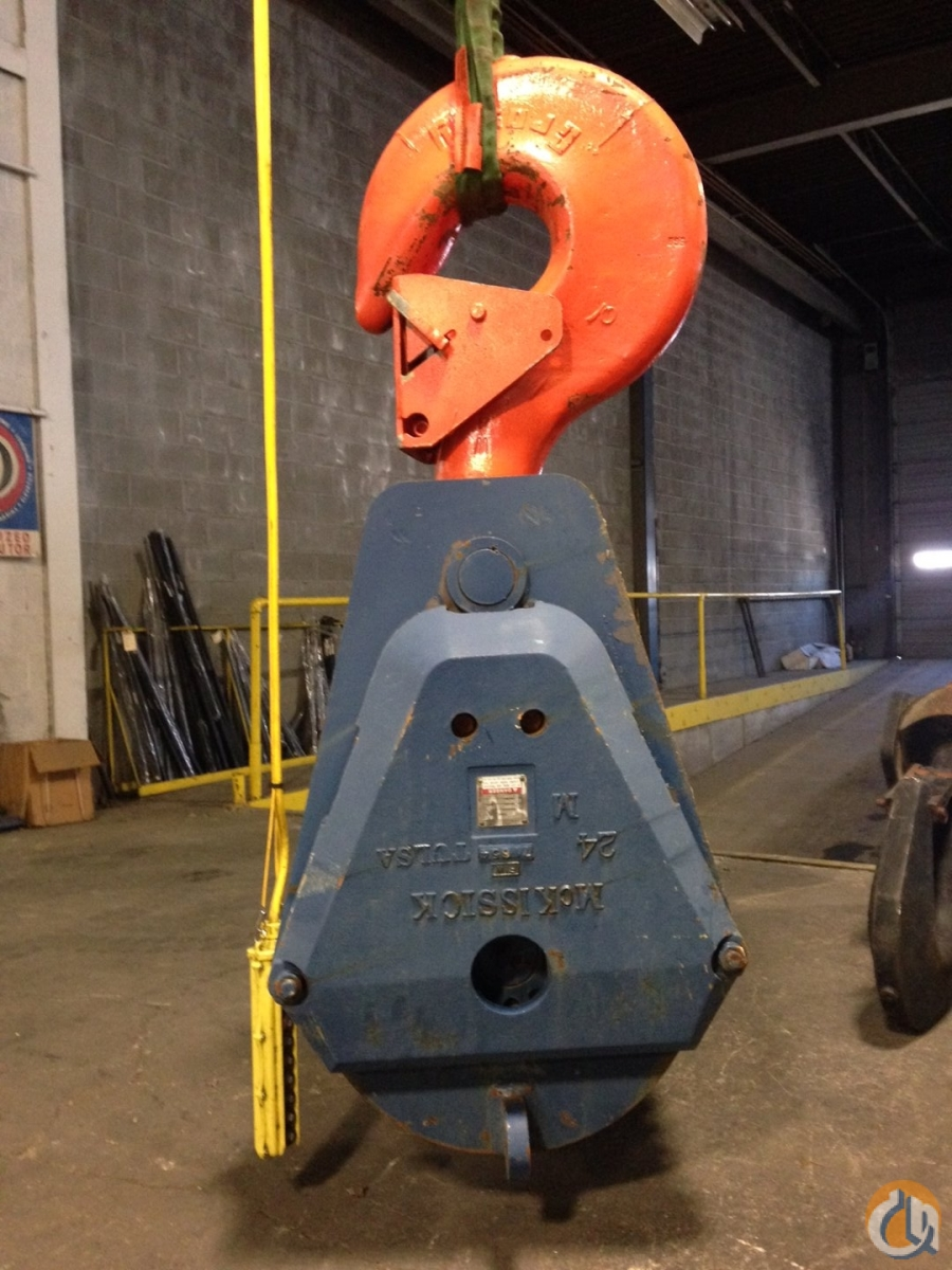 McKissick 100 Ton McKissick  4 Sheave Block New Hook Block Crane Part for Sale in Indianapolis Indiana on CraneNetworkcom