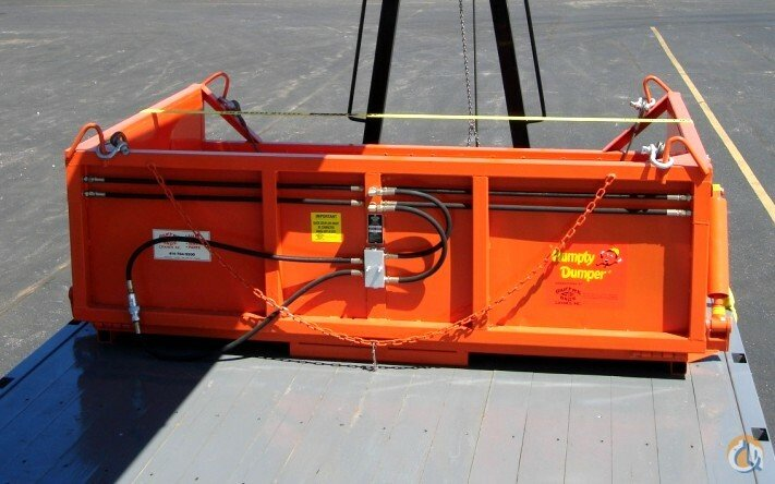 Unknown Hydraulic Dumper w Hydraulic Bottom Doors Dumpable Refuse container Hydraulic Roofers Package Crane Part for Sale in Milwaukee Wisconsin on CraneNetwork.com
